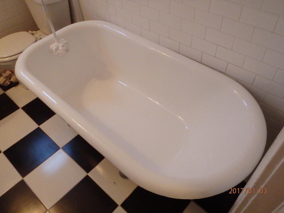 Bathtub refinishing process